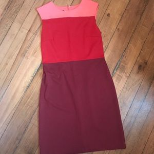 Talbots color block dress